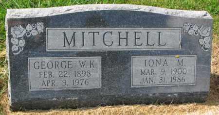 MITCHELL, GEORGE W.K. - Thurston County, Nebraska | GEORGE W.K. MITCHELL - Nebraska Gravestone Photos