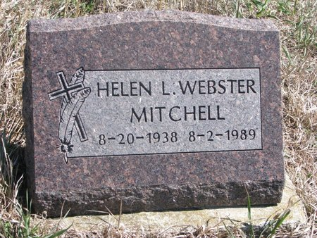 WEBSTER MITCHELL, HELEN L. - Thurston County, Nebraska   HELEN L. WEBSTER MITCHELL - Nebraska Gravestone Photos