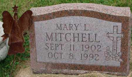 MITCHELL, MARY L. - Thurston County, Nebraska | MARY L. MITCHELL - Nebraska Gravestone Photos