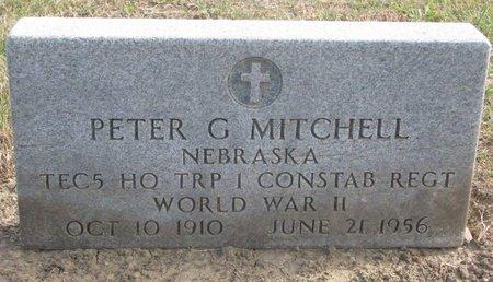 MITCHELL, PETER G. - Thurston County, Nebraska | PETER G. MITCHELL - Nebraska Gravestone Photos