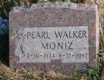 WALKER MONIZ, PEARL - Thurston County, Nebraska | PEARL WALKER MONIZ - Nebraska Gravestone Photos
