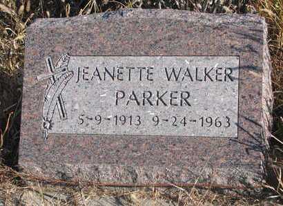 PARKER, JEANETTE - Thurston County, Nebraska | JEANETTE PARKER - Nebraska Gravestone Photos