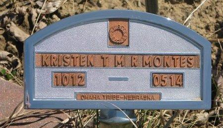 MONTES, KRISTEN T.M.R. - Thurston County, Nebraska   KRISTEN T.M.R. MONTES - Nebraska Gravestone Photos