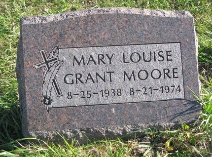 GRANT MOORE, MARY LOUISE - Thurston County, Nebraska | MARY LOUISE GRANT MOORE - Nebraska Gravestone Photos