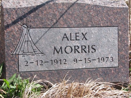MORRIS, ALEX - Thurston County, Nebraska | ALEX MORRIS - Nebraska Gravestone Photos