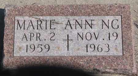 NG, MARIE ANN - Thurston County, Nebraska   MARIE ANN NG - Nebraska Gravestone Photos