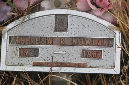NOWLAND, THERESA R. - Thurston County, Nebraska | THERESA R. NOWLAND - Nebraska Gravestone Photos
