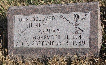 PAPPAN, HENRY J. - Thurston County, Nebraska   HENRY J. PAPPAN - Nebraska Gravestone Photos