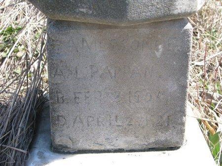 PAPPAN, JAMES ? (CLOSE UP) - Thurston County, Nebraska | JAMES ? (CLOSE UP) PAPPAN - Nebraska Gravestone Photos