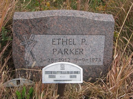 PARKER, ETHEL P. - Thurston County, Nebraska | ETHEL P. PARKER - Nebraska Gravestone Photos