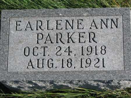 PARKER, EARLENE ANN - Thurston County, Nebraska   EARLENE ANN PARKER - Nebraska Gravestone Photos