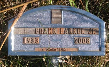 PARKER, FRANK JR. - Thurston County, Nebraska   FRANK JR. PARKER - Nebraska Gravestone Photos