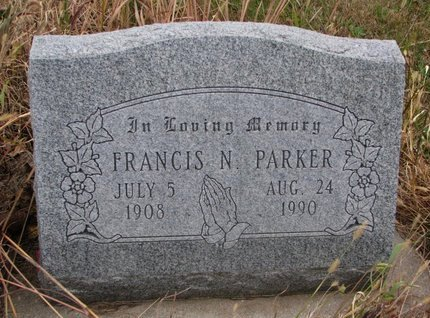 PARKER, FRANCIS N. - Thurston County, Nebraska   FRANCIS N. PARKER - Nebraska Gravestone Photos