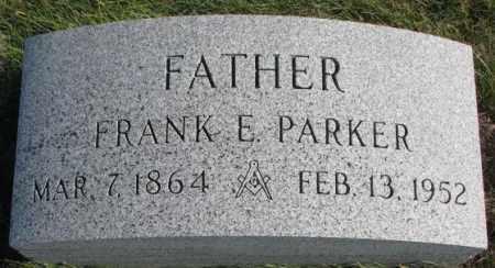PARKER, FRANK E. - Thurston County, Nebraska   FRANK E. PARKER - Nebraska Gravestone Photos