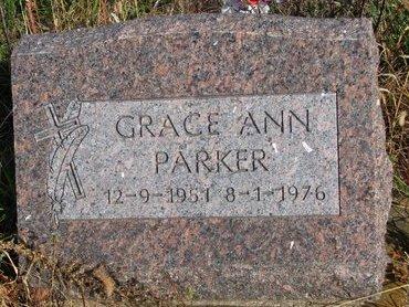 PARKER, GRACE ANN - Thurston County, Nebraska | GRACE ANN PARKER - Nebraska Gravestone Photos