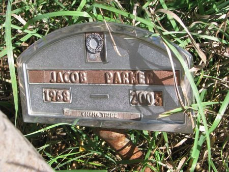 PARKER, JACOB - Thurston County, Nebraska | JACOB PARKER - Nebraska Gravestone Photos