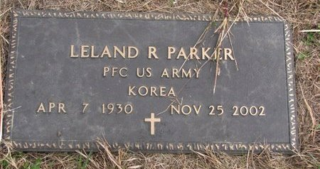 PARKER, LELAND R. - Thurston County, Nebraska | LELAND R. PARKER - Nebraska Gravestone Photos