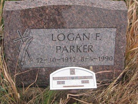 PARKER, LOGAN F. - Thurston County, Nebraska | LOGAN F. PARKER - Nebraska Gravestone Photos