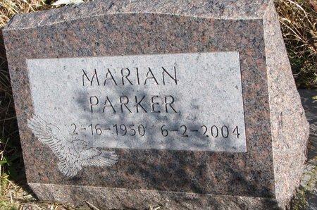 PARKER, MARIAN - Thurston County, Nebraska | MARIAN PARKER - Nebraska Gravestone Photos