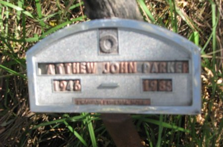PARKER, MATTHEW JOHN - Thurston County, Nebraska | MATTHEW JOHN PARKER - Nebraska Gravestone Photos