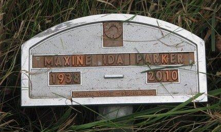 PARKER, MAXINE IDA - Thurston County, Nebraska | MAXINE IDA PARKER - Nebraska Gravestone Photos