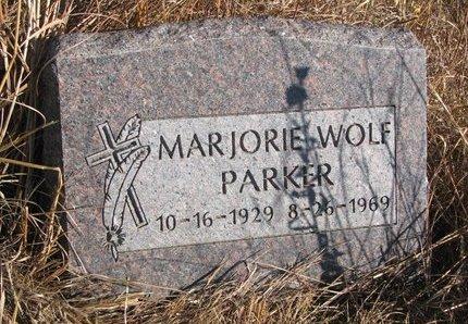 WOLF PARKER, MARJORIE - Thurston County, Nebraska | MARJORIE WOLF PARKER - Nebraska Gravestone Photos