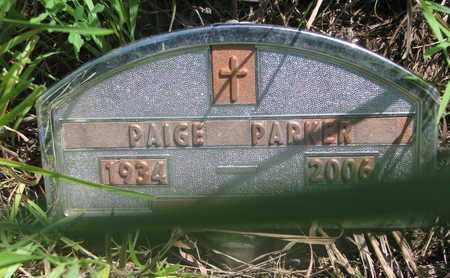 PARKER, PAIGE - Thurston County, Nebraska | PAIGE PARKER - Nebraska Gravestone Photos