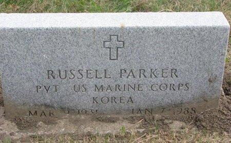 PARKER, RUSSELL - Thurston County, Nebraska | RUSSELL PARKER - Nebraska Gravestone Photos