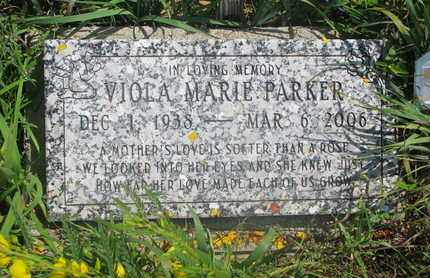PARKER, VIOLA MARIE - Thurston County, Nebraska | VIOLA MARIE PARKER - Nebraska Gravestone Photos