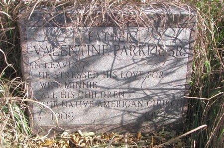 PARKER, VALENTINE SR. - Thurston County, Nebraska | VALENTINE SR. PARKER - Nebraska Gravestone Photos