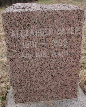 PAYER, ALEXANDER - Thurston County, Nebraska   ALEXANDER PAYER - Nebraska Gravestone Photos