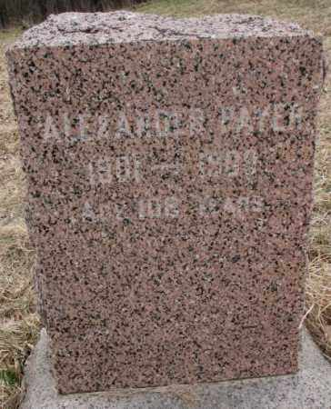 PAYER, ALEXANDER - Thurston County, Nebraska | ALEXANDER PAYER - Nebraska Gravestone Photos