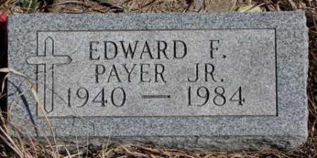 PAYER, EDWARD F. JR. - Thurston County, Nebraska | EDWARD F. JR. PAYER - Nebraska Gravestone Photos