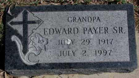 PAYER, EDWARD SR. - Thurston County, Nebraska | EDWARD SR. PAYER - Nebraska Gravestone Photos