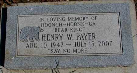PAYER, HENRY W. - Thurston County, Nebraska | HENRY W. PAYER - Nebraska Gravestone Photos