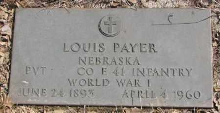 PAYER, LOUIS - Thurston County, Nebraska   LOUIS PAYER - Nebraska Gravestone Photos
