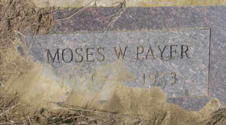 PAYER, MOSES W. - Thurston County, Nebraska | MOSES W. PAYER - Nebraska Gravestone Photos