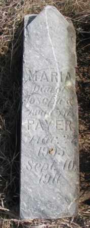 PAYER, MARIA - Thurston County, Nebraska | MARIA PAYER - Nebraska Gravestone Photos