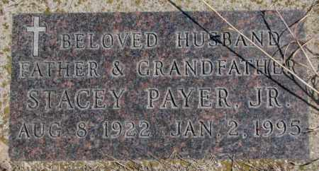 PAYER, STACEY JR. - Thurston County, Nebraska | STACEY JR. PAYER - Nebraska Gravestone Photos
