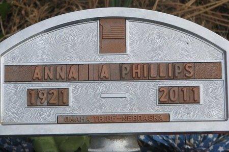 PHILLIPS, ANNA A. - Thurston County, Nebraska | ANNA A. PHILLIPS - Nebraska Gravestone Photos