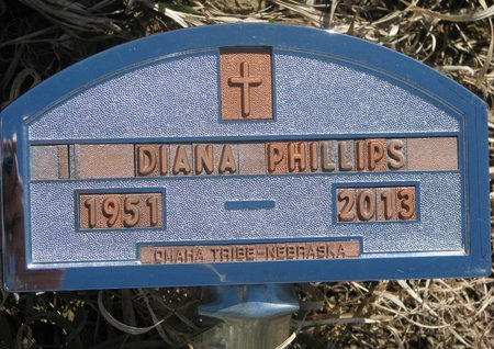 PHILLIPS, DIANA - Thurston County, Nebraska | DIANA PHILLIPS - Nebraska Gravestone Photos