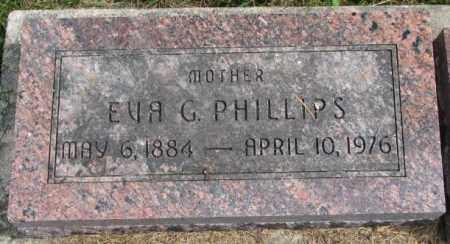 PHILLIPS, EVA G. - Thurston County, Nebraska | EVA G. PHILLIPS - Nebraska Gravestone Photos