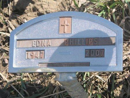 PHILLIPS, EDNA - Thurston County, Nebraska   EDNA PHILLIPS - Nebraska Gravestone Photos