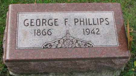 PHILLIPS, GEORGE F. - Thurston County, Nebraska | GEORGE F. PHILLIPS - Nebraska Gravestone Photos