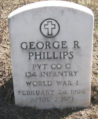 PHILLIPS, GEORGE R. - Thurston County, Nebraska | GEORGE R. PHILLIPS - Nebraska Gravestone Photos