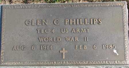 PHILLIPS, GLEN C. - Thurston County, Nebraska | GLEN C. PHILLIPS - Nebraska Gravestone Photos