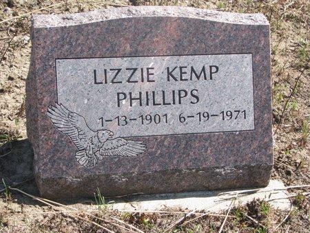 PHILLIPS, LIZZIE - Thurston County, Nebraska   LIZZIE PHILLIPS - Nebraska Gravestone Photos