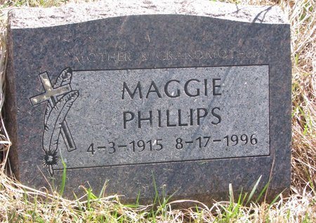 PHILLIPS, MAGGIE - Thurston County, Nebraska | MAGGIE PHILLIPS - Nebraska Gravestone Photos