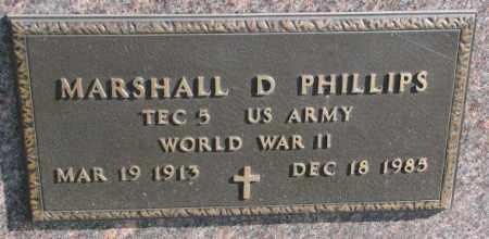 PHILLIPS, MARSHALL D. (WW II MARKER) - Thurston County, Nebraska   MARSHALL D. (WW II MARKER) PHILLIPS - Nebraska Gravestone Photos