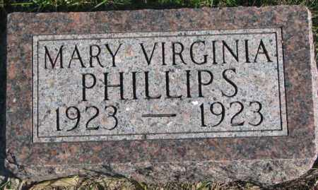 PHILLIPS, MARY VIRGINIA - Thurston County, Nebraska   MARY VIRGINIA PHILLIPS - Nebraska Gravestone Photos